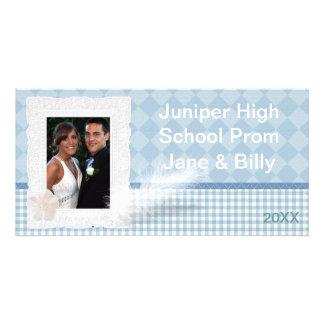 Tarjeta de la foto del baile de fin de curso tarjeta personal con foto