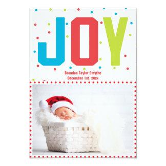 Tarjeta de la foto del bebé de la alegría de las