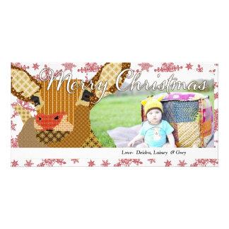 Tarjeta de la foto del copo de nieve del navidad d tarjetas con fotos personalizadas