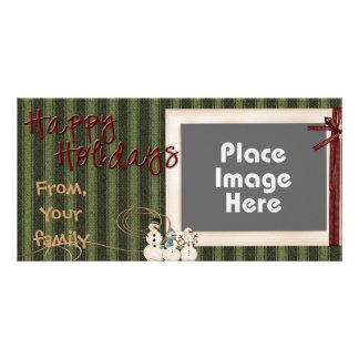 Tarjeta de la foto del día de fiesta - 1 tarjetas con fotos personalizadas