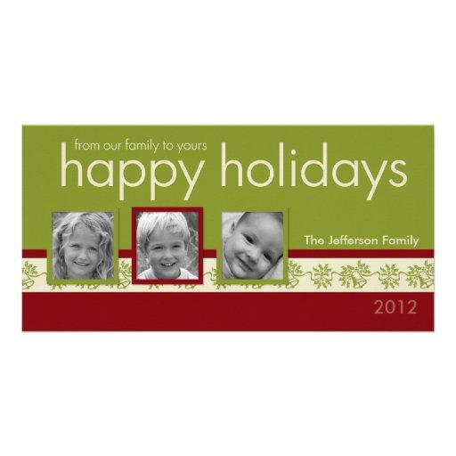 Tarjeta de la foto del día de fiesta de la familia tarjeta personal
