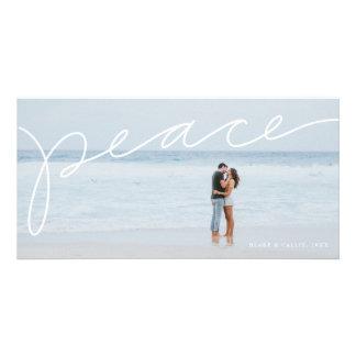 Tarjeta Tarjeta de la foto del día de fiesta de la paz
