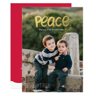 Tarjeta de la foto del día de fiesta de la paz el