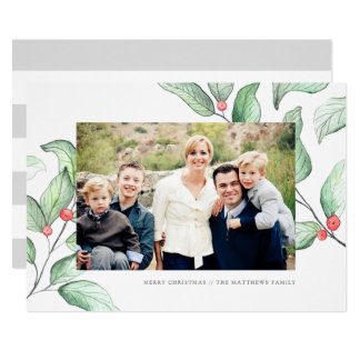 Tarjeta de la foto del día de fiesta de las bayas invitación 12,7 x 17,8 cm