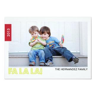 Tarjeta de la foto del día de fiesta del LA del LA Invitación 12,7 X 17,8 Cm