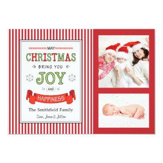 Tarjeta de la foto del día de fiesta del navidad, invitación 12,7 x 17,8 cm