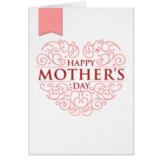 Tarjeta de la foto del día de madre