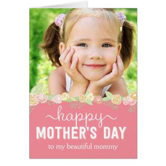 Tarjeta de la foto del día de madres de la