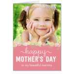 Tarjeta de la foto del día de madres de la floraci