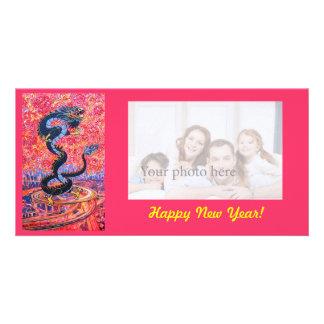 Tarjeta de la foto del dragón tarjetas fotográficas personalizadas