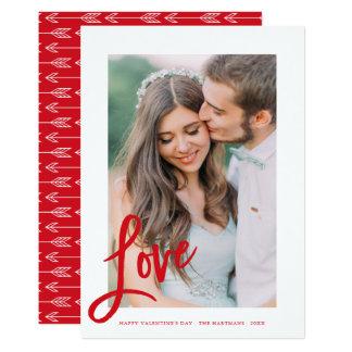 Tarjeta de la foto del el día de San Valentín de
