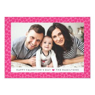 Tarjeta de la foto del el día de San Valentín de Invitación 12,7 X 17,8 Cm