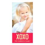 Tarjeta de la foto del el día de San Valentín de X Tarjeta Con Foto Personalizada