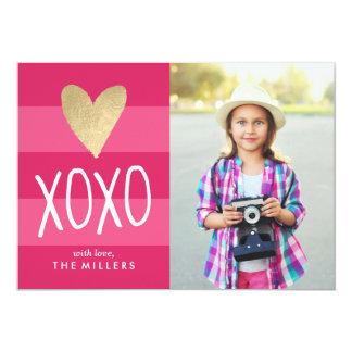 Tarjeta de la foto del el día de San Valentín del Invitación 12,7 X 17,8 Cm