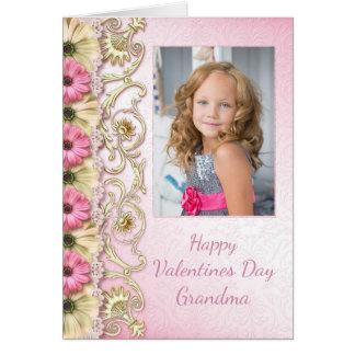 Tarjeta de la foto del el día de San Valentín para
