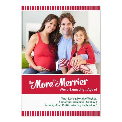 Tarjeta de la foto del embarazo del navidad -
