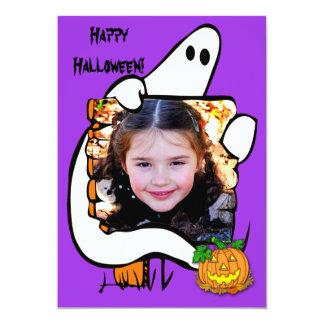 Tarjeta de la foto del fantasma de Halloween Invitación 12,7 X 17,8 Cm