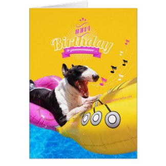 """Tarjeta de la foto del """"feliz cumpleaños"""" de bull"""