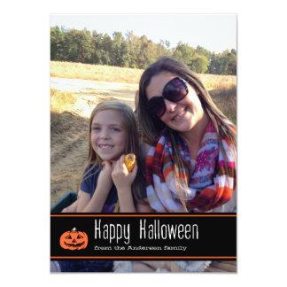 Tarjeta de la foto del feliz Halloween