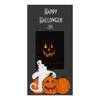 Tarjeta de la foto del feliz Halloween del Tarjeta Personal Con Foto