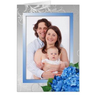 Tarjeta de la foto del Hydrangea del día de madre