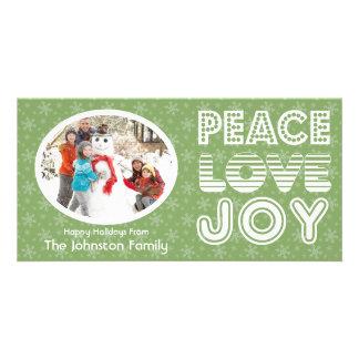 Tarjeta de la foto del invierno de la alegría del  tarjetas fotográficas personalizadas