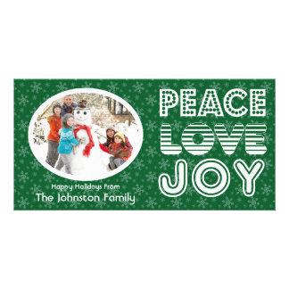 Tarjeta de la foto del invierno de la alegría del  tarjetas con fotos personalizadas