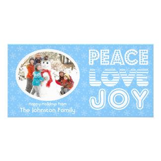 Tarjeta de la foto del invierno de la alegría del  plantilla para tarjeta de foto