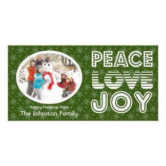Tarjeta de la foto del invierno de la alegría del  tarjetas personales con fotos