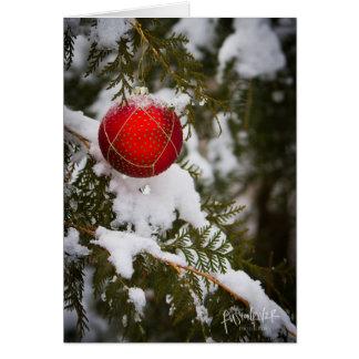 Tarjeta de la foto del navidad