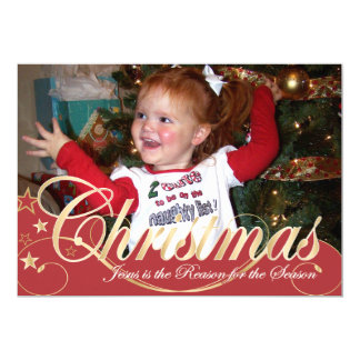 tarjeta de la foto del navidad 5x7