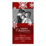 Tarjeta de la foto del navidad de los copos de nie tarjeta fotográfica