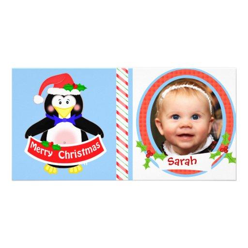 Tarjeta de la foto del navidad de los niños divert tarjeta fotografica personalizada