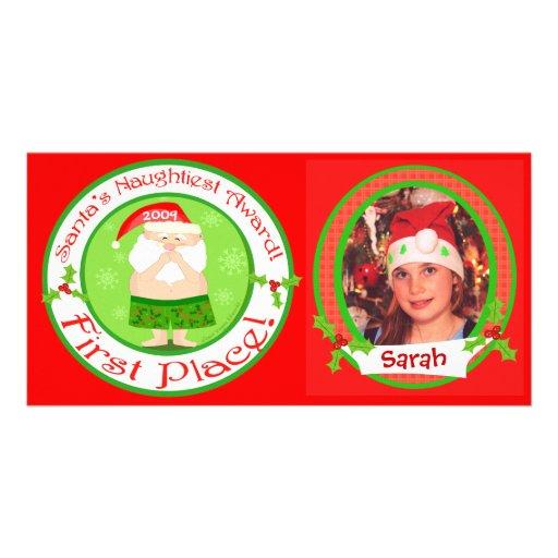 Tarjeta de la foto del navidad de los niños divert tarjeta con foto personalizada