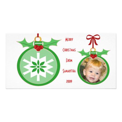 Tarjeta de la foto del navidad de los niños divert tarjetas personales con fotos