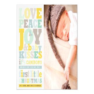 Tarjeta de la foto del navidad del bebé de la