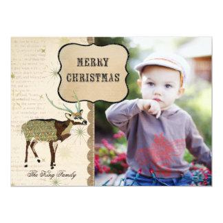 Tarjeta de la foto del navidad del copo de nieve invitación 16,5 x 22,2 cm
