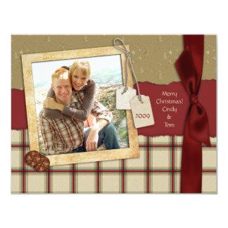 Tarjeta de la foto del navidad del pedazo de la invitación 10,8 x 13,9 cm