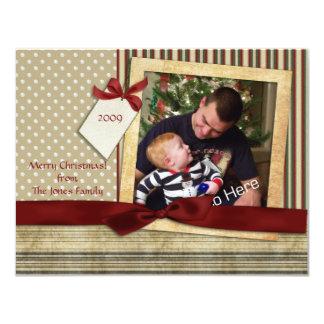 Tarjeta de la foto del navidad del pedazo de los invitación 10,8 x 13,9 cm