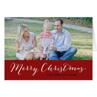 Tarjeta de la foto del navidad - Felices Navidad -