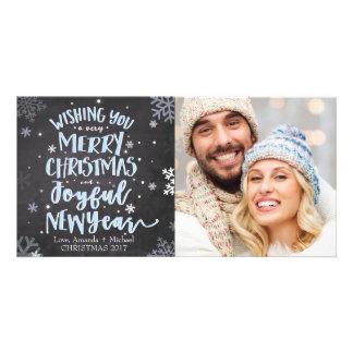 Tarjeta de la foto del navidad - Felices Navidad