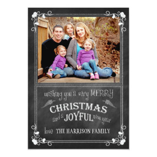 Tarjeta de la foto del navidad moderno de la invitación 12,7 x 17,8 cm