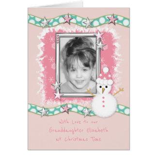 Tarjeta de la foto del navidad para nuestra nieta