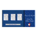 Tarjeta de la foto del navidad tarjeta fotografica personalizada