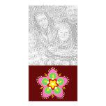 tarjeta de la foto del rangoli del diwali tarjetas con fotos personalizadas