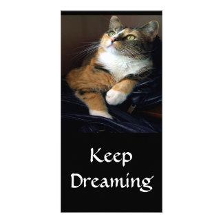 Tarjeta de la foto del soñador del día tarjetas personales