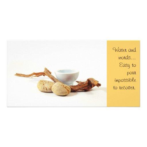 Tarjeta de la foto del zen tarjeta personal