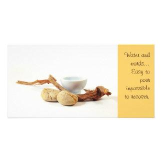 Tarjeta de la foto del zen tarjeta fotografica personalizada