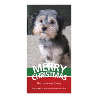 Tarjeta de la foto: Felices Navidad con 1 foto Tarjeta Personal Con Foto