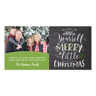 Tarjeta de la foto - Felices pequeños Navidad